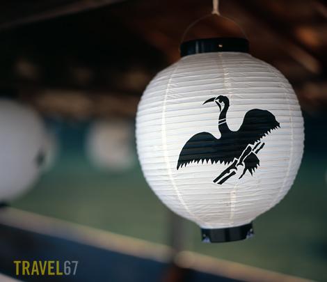 Lantern on ukai boat