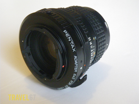 Pentax 67 to 645 adapter on 105mm lens