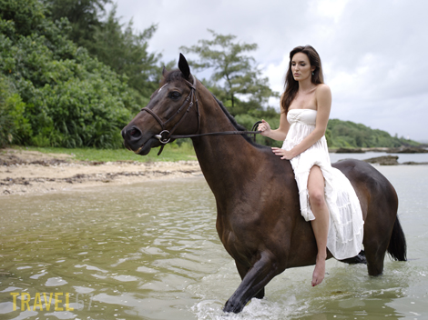 Horse riding on Okinawa - Liz & Makoto (645D with 645D 55mm lens)