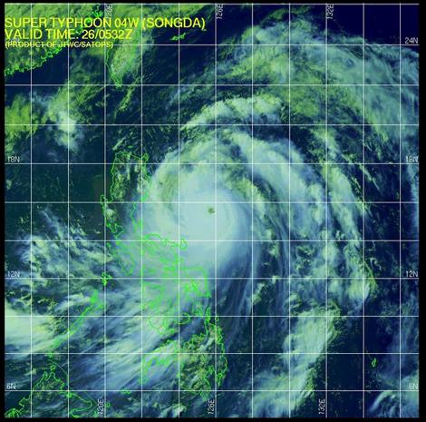 Super Typhoon   Songda Okinawa Japan