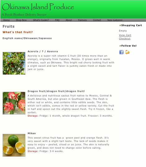Okinawa Island Produce - Organic Fruits and Veggies Delivered to Your Door