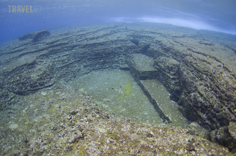 Yonaguni Monument, Okinawa - Triangle Pool
