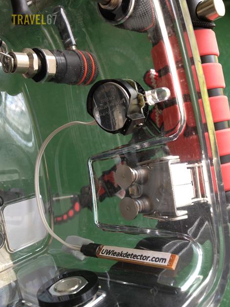 Underwater Leak detector