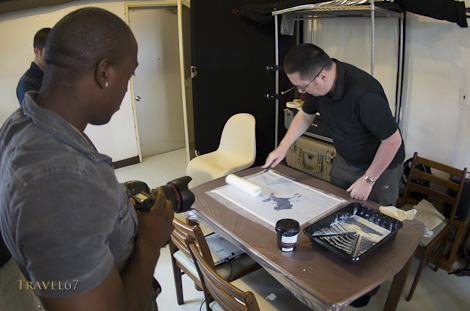 Laminating the print before creating a gallery wrap