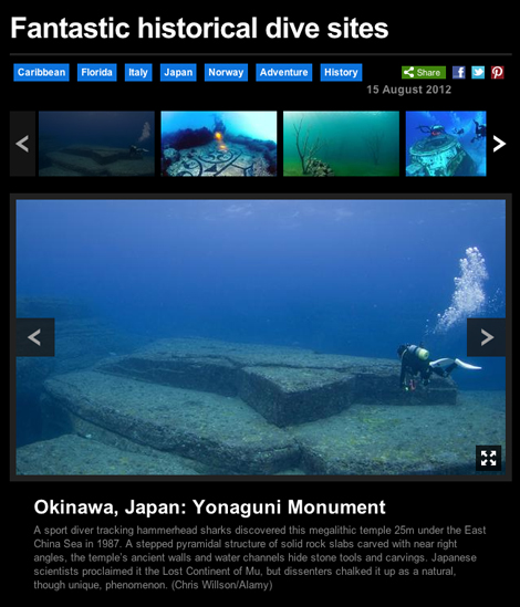 Fantastic historical dive sites BBC
