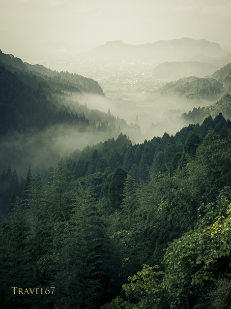Misty Mountains of Kirishima645D with 90mm lens
