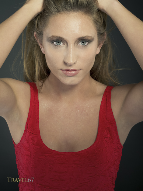 Alexis in Red - 645D with 90mm lens