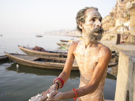 A Sadhu's Morning Ritual - Varanasi, India