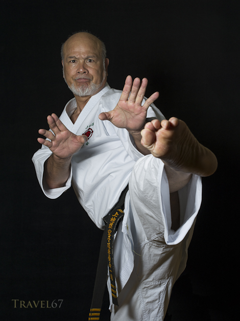 Kiyohide Shinjo 9th-dan Uechi ryu karate.