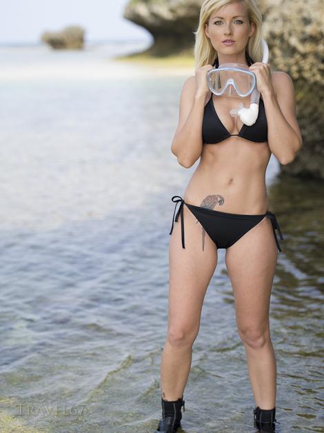Snorkeling in Okinawa ( Model - Leia Heider)