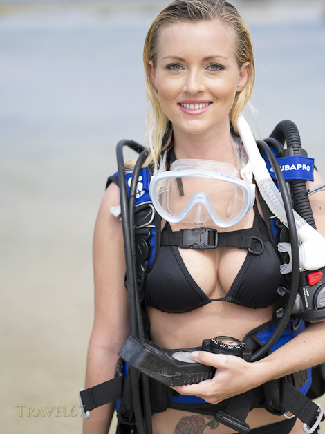Scuba Diving in Okinawa ( Model - Leia Heider)