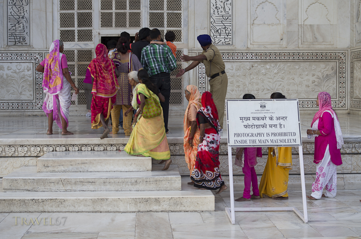 Visitors to the Taj Mahal