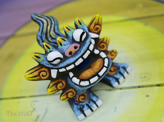 Shisa talisman by Yoneko-yaki Pottery . Ishigaki Island, Okinawa, Japan