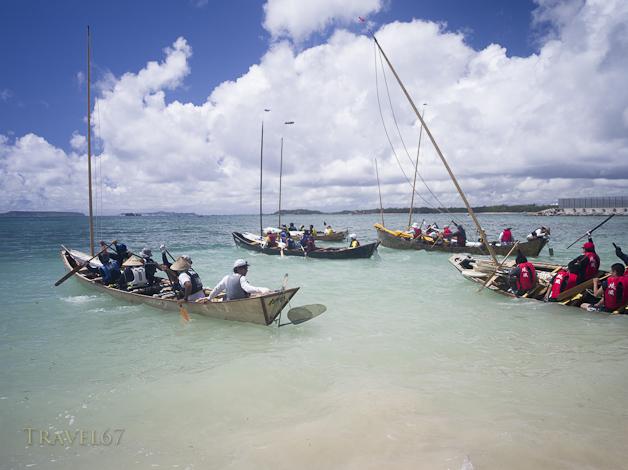 Sabani Boat Races in Ginoza, Okinawa