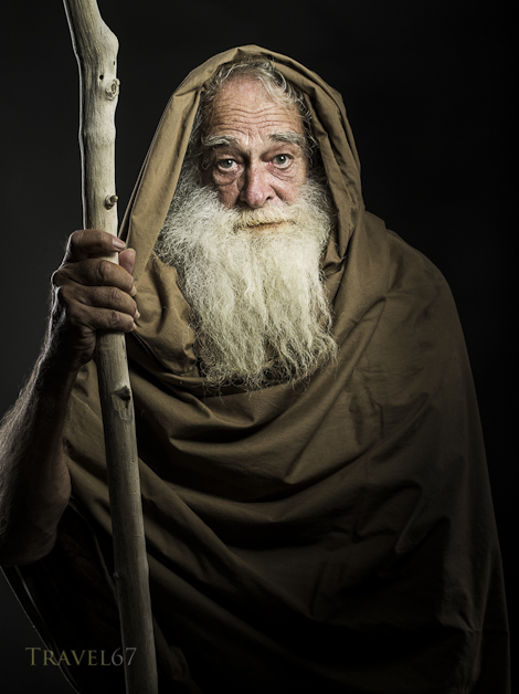 Michael as  Gandalf / Dumbledore / Moses