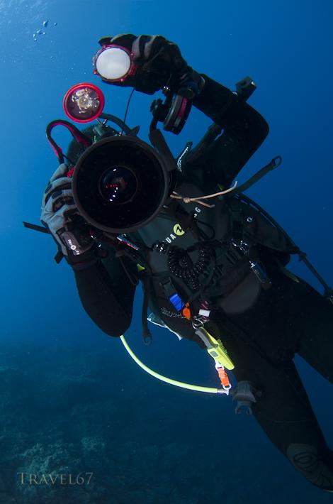 Underwater with Hiroshi