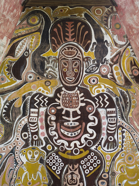 Mural at National Museum, Port Moresby