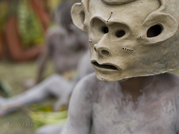 Asaro Mudmen Womens Culture Group, Daulo District, Eastern Highlands Province