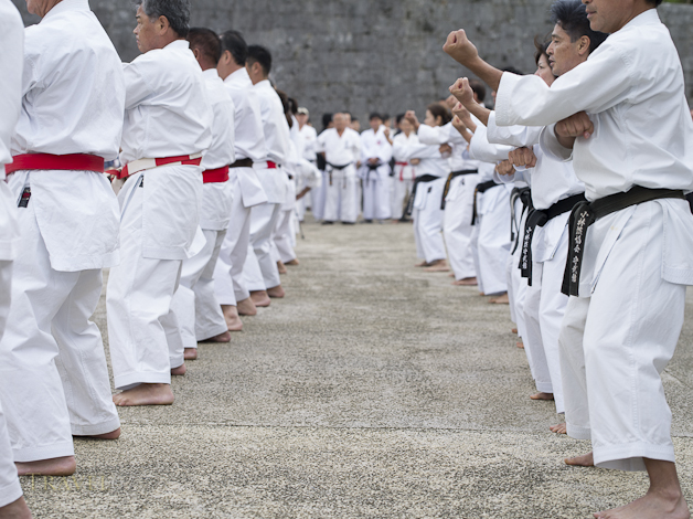 Karate Day Demonstrations at Shuri Castle, Naha, Okinawa