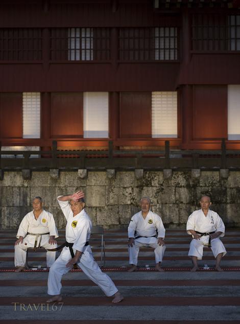 Karate Day Demonstrations at Shuri Castle, Naha, Okinawa