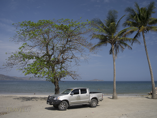 Toyota Hilux Truck at Ela Beach , Port Moresby City , Papua New Guinea