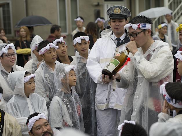 Drinking Sake, Karatsu Kunchi Festival, Karatsu City, Saga Prefecture, Japan