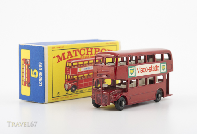 Matchbox Die-cast Toy Cars - #5 Routemaster Red Double Decker Bus