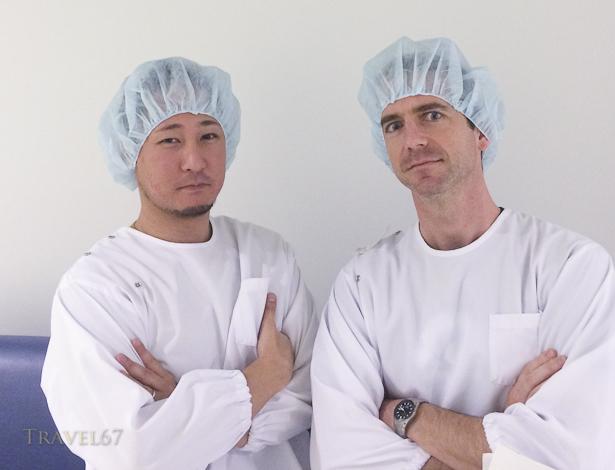 Richard Masuda & I just before surgery.