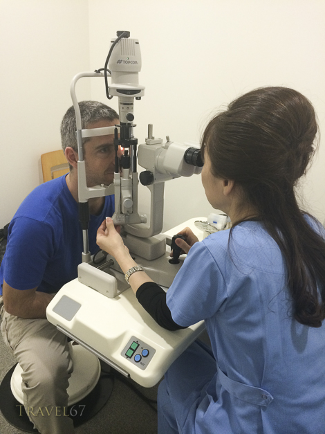 Eye check by Dr Takahashi