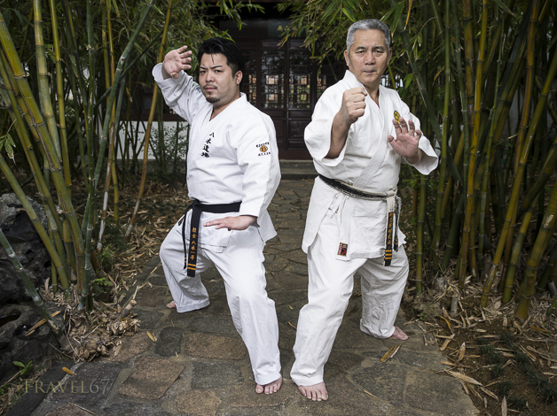 Meitetsu Yagi and son Ippei Yagi of Meibukan Karate