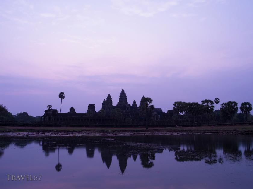 Dawn at Angkor Wat, Buddhist Temple Complex,  Siem Reap, Cambodia