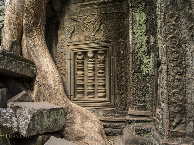 Ta Prohm temple ruin in the forest. Siem Reap, Cambodia