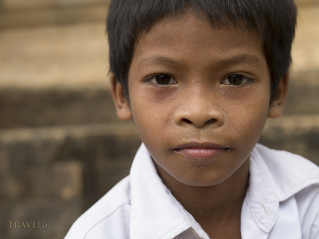 Boy at Prasat Kravan, Siem Reap, Cambodia