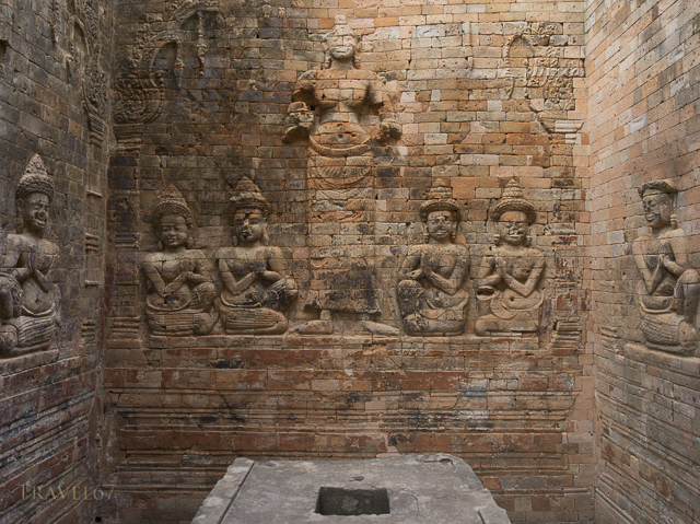 Prasat Kravan a Hindu temple constructed of brick. Siem Reap, Cambodia
