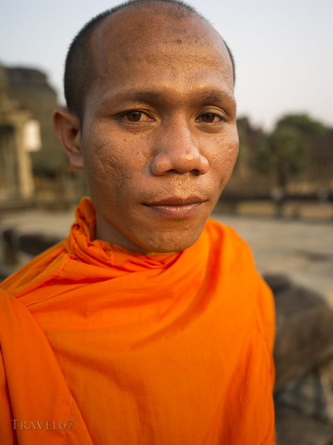 Nheam the Cambodian Monk at Angkor Wat