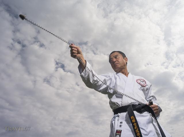 Kobudo Master Yukio Kuniyoshi.