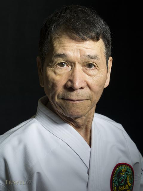 Naonobu Ahagon, Hanshi 10th Dan, Okinawa Karate & Kobudo Shorinryu at his dojo in Naha City, Okinawa.