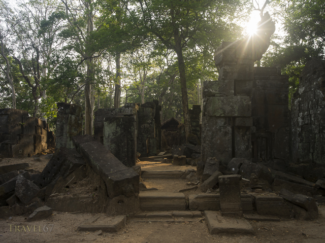 Ruins beside Prasat Thom the principal monument of Koh Ker  127 NE of Siem Reap, Cambodia