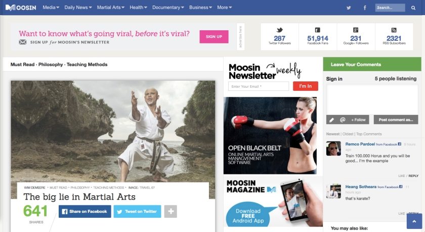 Moosin Website May 19th 2014