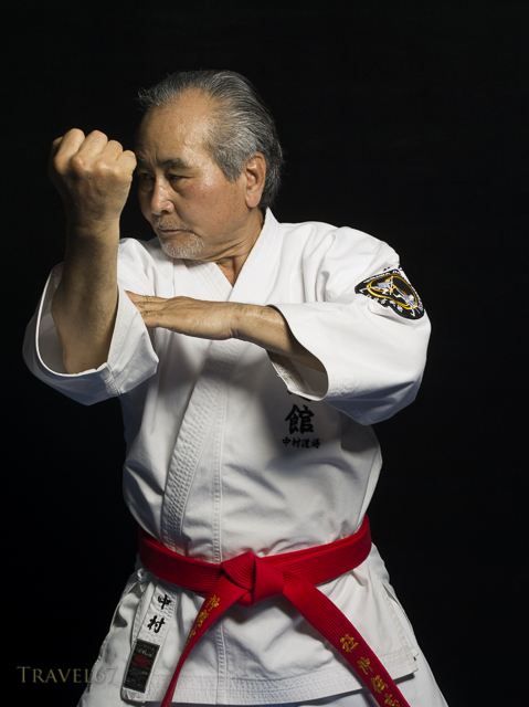 Seiyu Nakamura, photographed as part of The Karate Masters Portrait Project