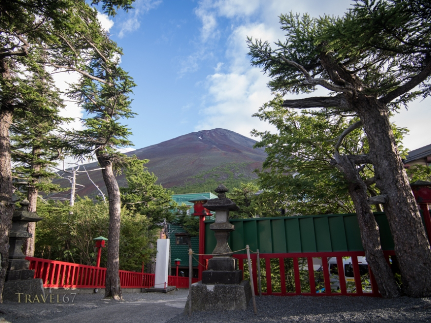 View of Fuji from Komitake Shrine  at Fuji Subaru Line 5th Station