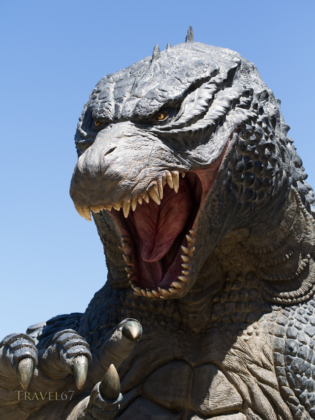 6.6-meter Godzilla at Tokyo Midtown's garden in  Roppongi Tokyo.