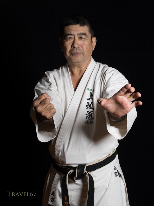 Haruyoshi Shimabukuro, 8th dan Uechi-ryu.