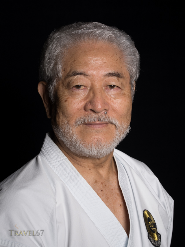 Koei Teruya, 10th dan Goju-ryu karate.