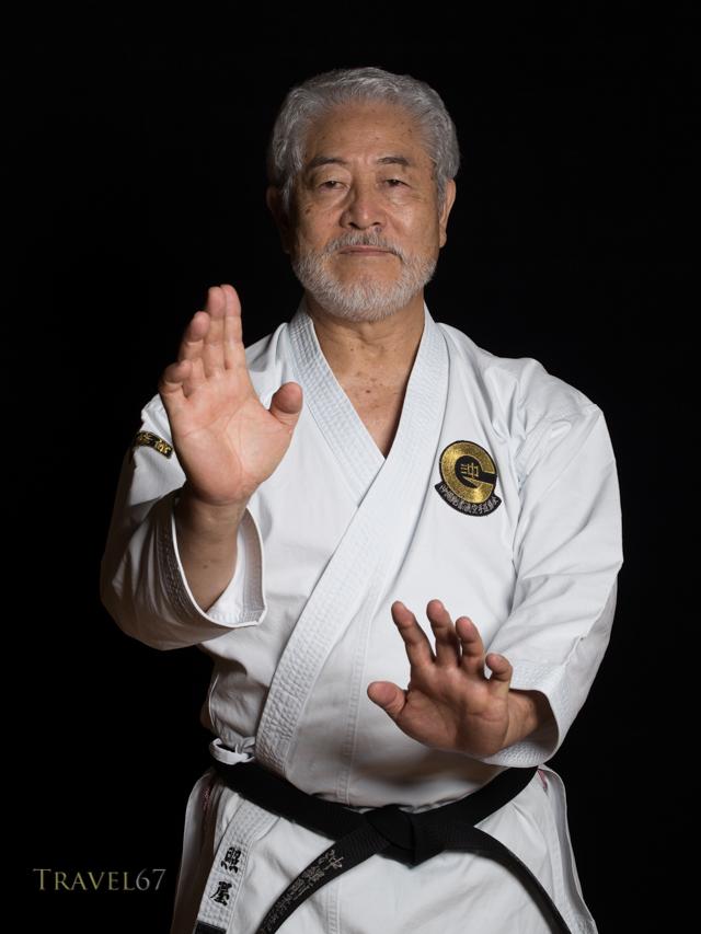 Koei Teruya, 10th dan Goju-ryu karate.