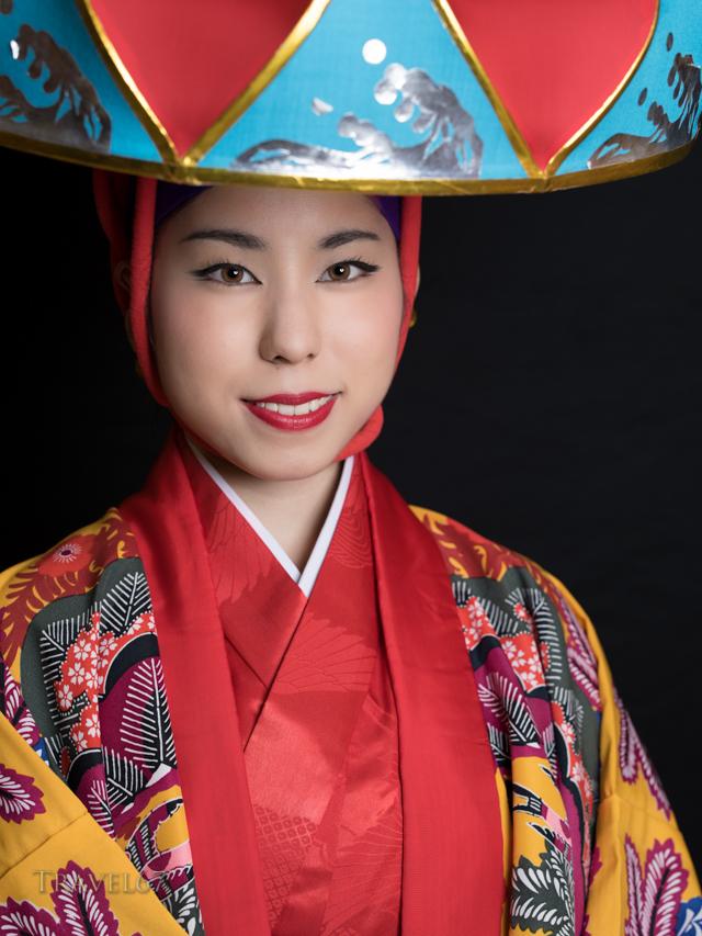 Ryukyu Dancer in Yotsutake performance costume.