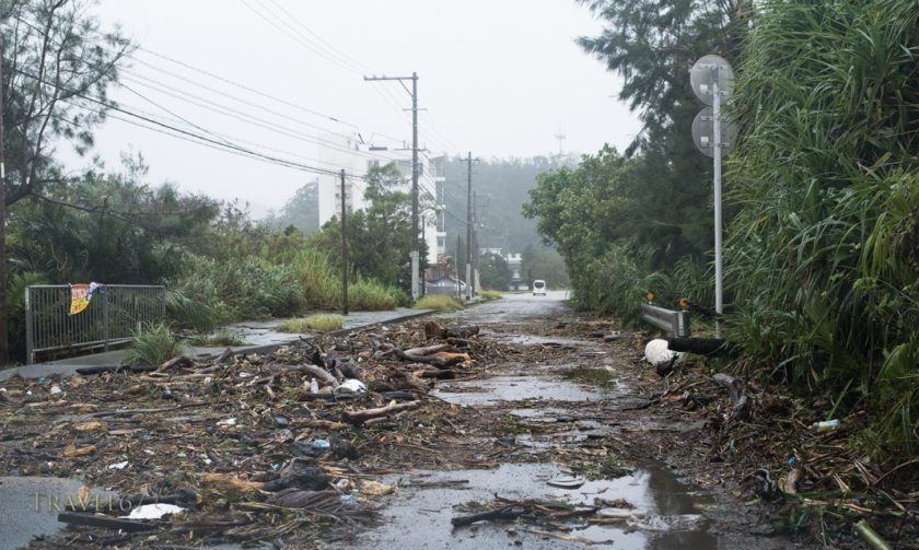 Super Typhoon Vongfong hits Okinawa, Japan.