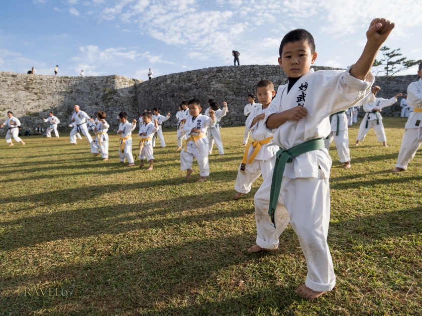 100 Kata for Karate Day 2014 at Zakimi Castle World Heritage Site, Okinawa, Japan