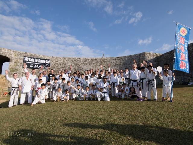 100 Kata for Karate Day 2014 at Zakimi Castle World Heritage Site, Okinawa, Japan