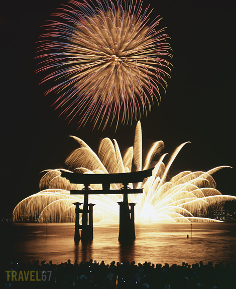 Fireworks at Itsukushima